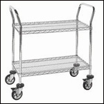 Chrome Wire Mobile Carts