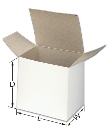 White Folding Chipboard box