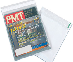 Clear Front poly envelope, clear front mailing bag