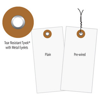 White Tyvek Tags