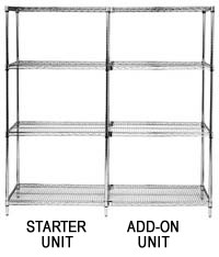 "86""Chrome Wire Shelving - Starter Unit"