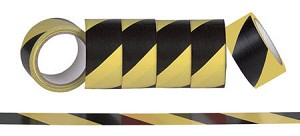Hazard Warning Stripe Duct Tape